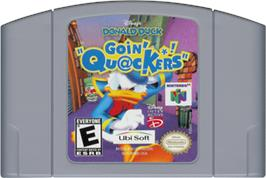Cartridge artwork for Donald Duck: Goin' Quackers on the Nintendo N64.