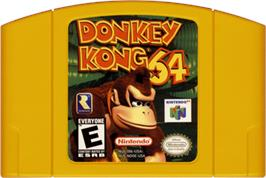 Cartridge artwork for Donkey Kong 64 on the Nintendo N64.