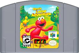Cartridge artwork for Elmo's Letter Adventure on the Nintendo N64.