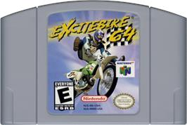 Cartridge artwork for Excite Bike 64 on the Nintendo N64.