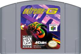 Cartridge artwork for Extreme G on the Nintendo N64.