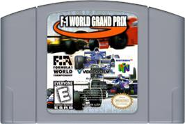 Cartridge artwork for F-1 World Grand Prix on the Nintendo N64.