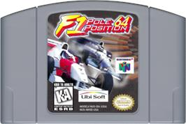 Cartridge artwork for F1 Pole Position 64 on the Nintendo N64.