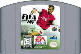 Cartridge artwork for FIFA 99 on the Nintendo N64.