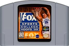 Cartridge artwork for Fox Sports College Hoops '99 on the Nintendo N64.