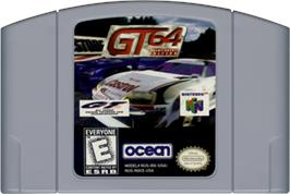 Cartridge artwork for GT 64: Championship Edition on the Nintendo N64.