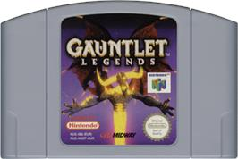 Cartridge artwork for Gauntlet Legends on the Nintendo N64.