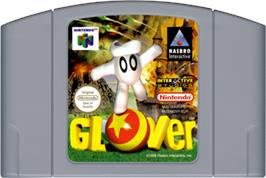 Cartridge artwork for Glover on the Nintendo N64.