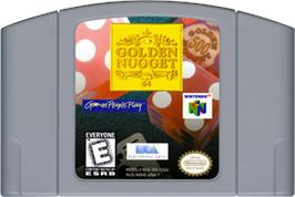 Cartridge artwork for Golden Nugget 64 on the Nintendo N64.