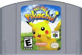 Cartridge artwork for Hey You, Pikachu on the Nintendo N64.