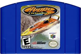 Cartridge artwork for Hydro Thunder on the Nintendo N64.