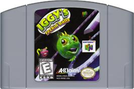 Cartridge artwork for Iggy's Reckin' Balls on the Nintendo N64.