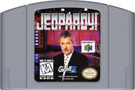 Cartridge artwork for Jeopardy on the Nintendo N64.