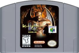 Cartridge artwork for Killer Instinct Gold on the Nintendo N64.