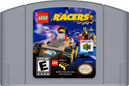 Cartridge artwork for LEGO Racers on the Nintendo N64.