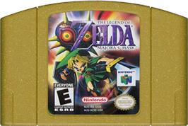 Cartridge artwork for Legend of Zelda: Majora's Mask on the Nintendo N64.