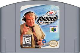 Cartridge artwork for Madden NFL 2000 on the Nintendo N64.