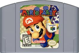 Cartridge artwork for Mario Party on the Nintendo N64.