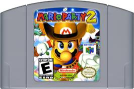 Cartridge artwork for Mario Party 2 on the Nintendo N64.