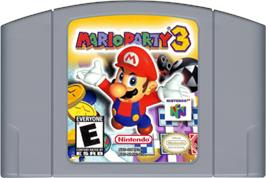 Cartridge artwork for Mario Party 3 on the Nintendo N64.