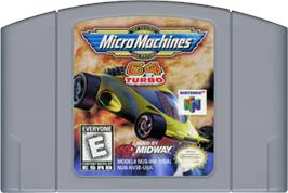 Cartridge artwork for Micro Machines 64 Turbo on the Nintendo N64.