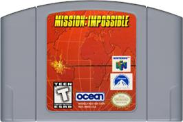 Cartridge artwork for Mission Impossible on the Nintendo N64.
