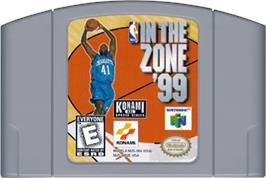 Cartridge artwork for NBA: In the Zone '99 on the Nintendo N64.