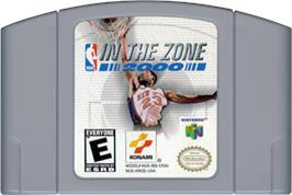Cartridge artwork for NBA: In the Zone 2000 on the Nintendo N64.