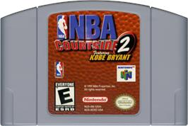 Cartridge artwork for NBA Courtside 2: Featuring Kobe Bryant on the Nintendo N64.
