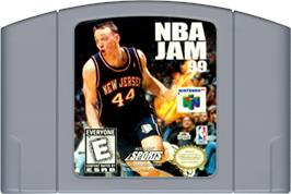 Cartridge artwork for NBA Jam 99 on the Nintendo N64.