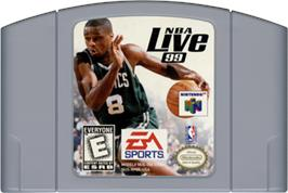 Cartridge artwork for NBA Live '99 on the Nintendo N64.