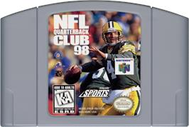 Cartridge artwork for NFL Quarterback Club '98 on the Nintendo N64.