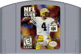 Cartridge artwork for NFL Quarterback Club '99 on the Nintendo N64.