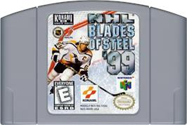Cartridge artwork for NHL Blades of Steel '99 on the Nintendo N64.