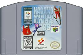 Cartridge artwork for Nagano Winter Olympics '98 on the Nintendo N64.
