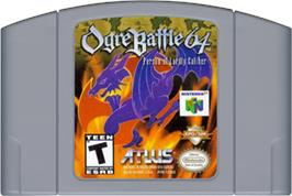 Cartridge artwork for Ogre Battle 64: Person of Lordly Caliber on the Nintendo N64.