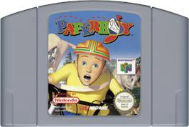 Cartridge artwork for Paperboy on the Nintendo N64.