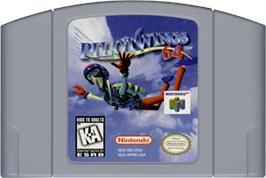 Cartridge artwork for Pilotwings 64 on the Nintendo N64.