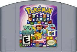 Cartridge artwork for Pokemon Puzzle League on the Nintendo N64.