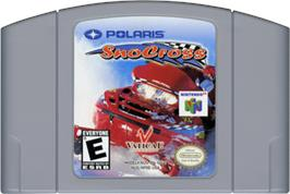 Cartridge artwork for Polaris SnoCross on the Nintendo N64.