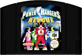 Cartridge artwork for Power Rangers: Lightspeed Rescue on the Nintendo N64.