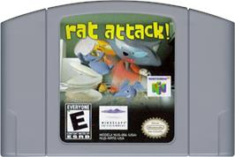 Cartridge artwork for Rat Attack on the Nintendo N64.