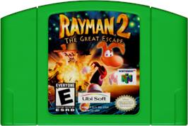 Cartridge artwork for Rayman 2: The Great Escape on the Nintendo N64.