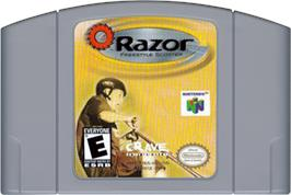 Cartridge artwork for Razor Freestyle Scooter on the Nintendo N64.