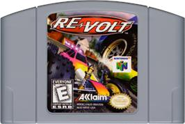 Cartridge artwork for Re-Volt on the Nintendo N64.