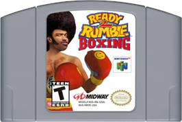 Cartridge artwork for Ready 2 Rumble Boxing on the Nintendo N64.