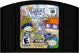 Cartridge artwork for Rugrats in Paris: The Movie on the Nintendo N64.