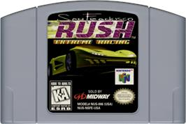 Cartridge artwork for San Francisco Rush: Extreme Racing on the Nintendo N64.