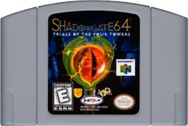Cartridge artwork for Shadowgate 64: The Trials of the Four Towers on the Nintendo N64.