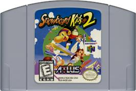 Cartridge artwork for Snowboard Kids 2 on the Nintendo N64.